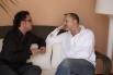 Entrevistant Miguel Bosé per a una revista internacional. Eivissa, estiu, 2007