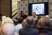Presentació del llibre ''MI vida en un lienzo'', de Charo Velasco. Presentació de l'acte, David Escamilla. 7 d'abril, 2014, La casa del libro, Barcelona