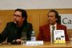 David Escamilla i Justo Molinero (prologuista del llibre i president del Grup Tele Taxi). Presentació del llibre Històries del taxi. La Casa del Llibre, Barcelona, 22 febrer 2008