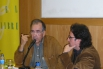 Presentació del meu llibre de poemes ''Les edats del fred'' amb el poeta Joan Margarit. Casa del Llibre, Barcelona, 2005