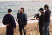 Dirigint el film documental ''Mar de invierno'', la Barceloneta, 2004