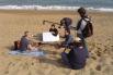 Dirigint el film documental ''Mar de invierno'', la Barceloneta, 2004, Barcelona