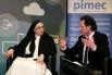Amb Sor Lucía Caram, monja solidària i Directora de la Fundació Rosa Oriol (Tous). Presentació de l'acte: David Escamilla. Pimec, Barcelona, febrer 2013.